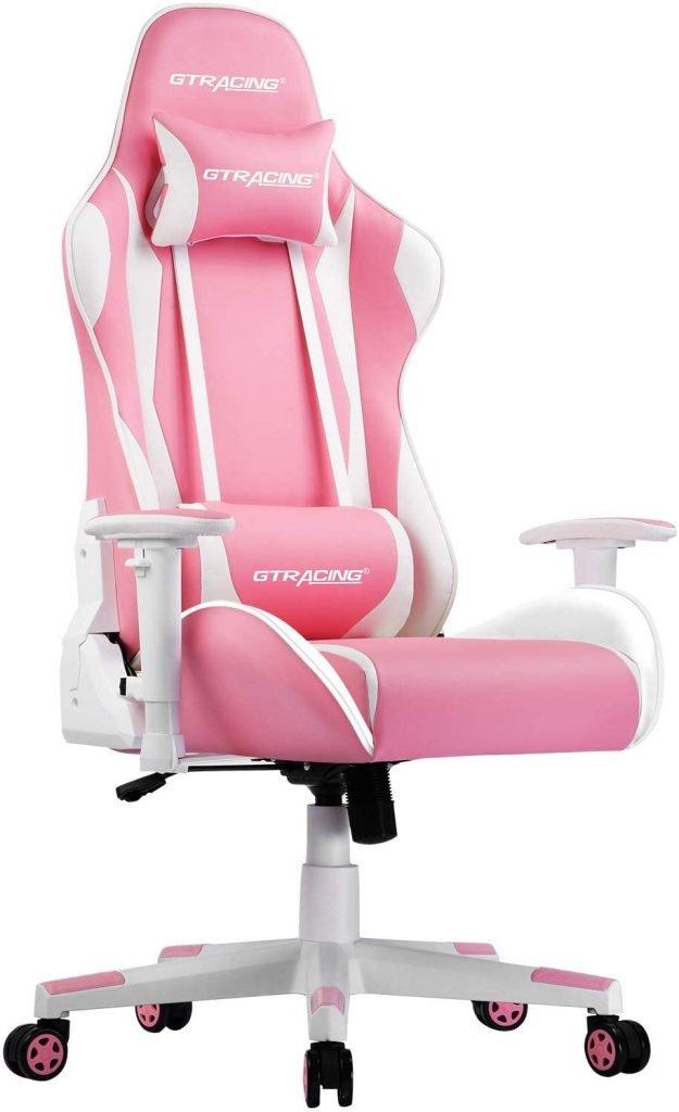GTRacing Ergonomic Esports Pink Gaming Chair