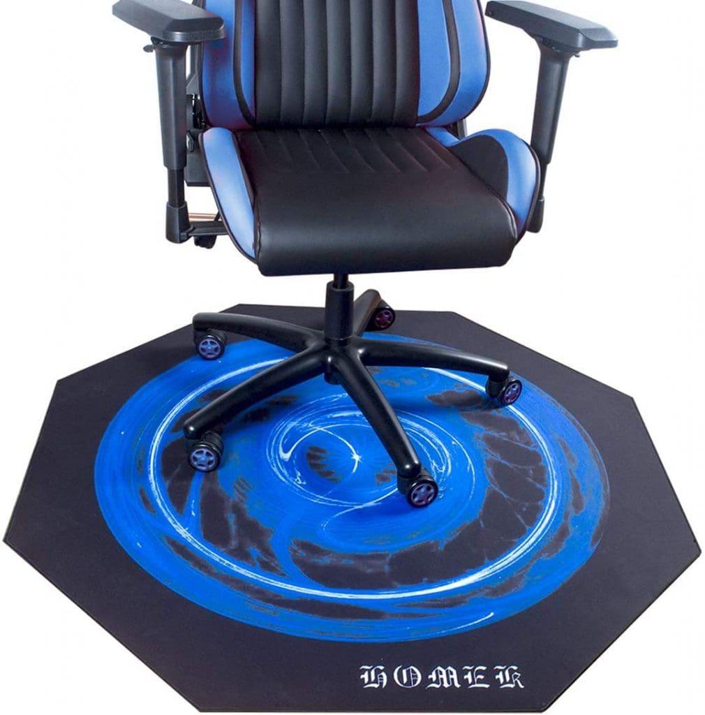 HOMEK Gaming Chair Mat for Hardwood Floor