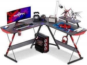 MOTPK L Shaped Corner Gaming Desk