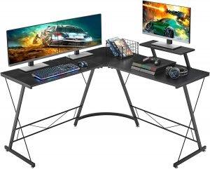 Mr IRONSTONE L-Shaped Gaming Corner Desk